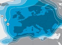 Carte couverture satellite Astra TNTSat