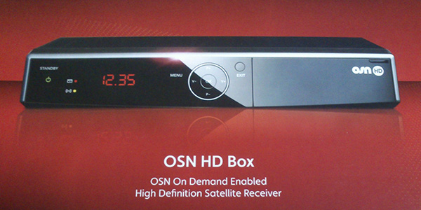 OSN HD Box. OSN on Demand Enabled. High Definition Satellite Receiver