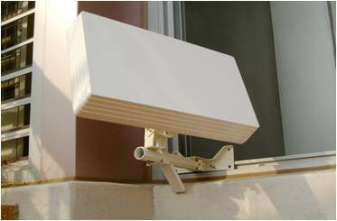 Antenne plate balcon