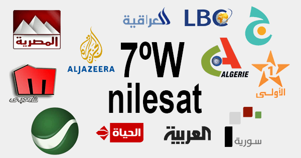 نايل سات Nilesat 7º West satellite  List of FTA TV channels at
